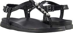 Vionic Palm Boca- Womens Sandal Black Snake - 8.5 Medium