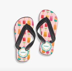 Personalized Ice Cream Flip Flops   Sizes 1-8