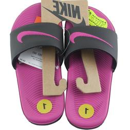 Nike Pink Kawa Slide Sandals Flip Flops Beach Girls Shoes Si