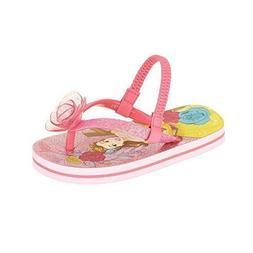 Disney Princess Belle Girls Toddler Flip Flops W Back Strap