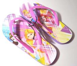 DISNEY Princess Flip Flops Beach Purple Sandals NWT Sz S 13/