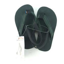 Rainbow Kid's Flip Flops US 5/6 Black Premier Leather Back S