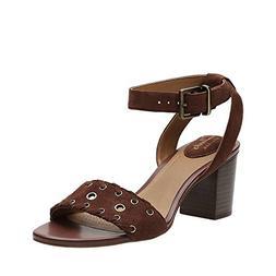 CLARKS Ralene Sheen Womens Heeled Sandals Dark Tan Suede 7