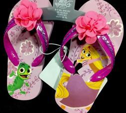 Disney Store Rapunzel Flip Flops Kids Size 9/10 Sandals Prin
