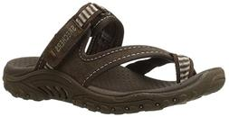 Skechers Women's Reggae-Rasta Thong Sandal, Chocolate, 9 M U