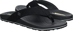Skechers Men's Relaxed Fit-Velmen-Erever Flip-Flop,black,9 M