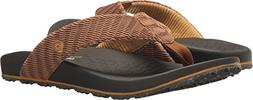 Skechers Men's Relaxed Fit-Velmen-Erever Flip-Flop,brown,11