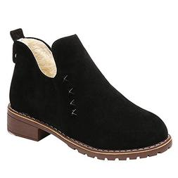 Morecome Fashion Women Rivets Flat Shoes Ankle Boot Suede Sl