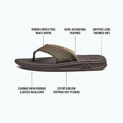 Reef Men's Rover Flip Flop, Brown, 13 M US