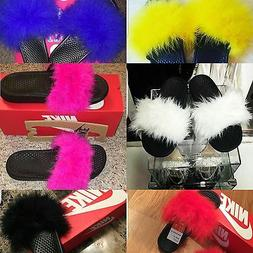 Sale!!!!Custom Nike Fur Slides