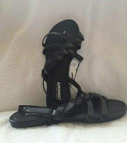 SONOMA Sandals Flip Flops BLACK Twist Braid Strap Size Small