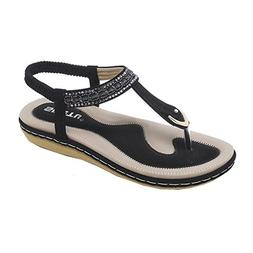 Sandals for Womens, FORUU New Summer Flat Casual Single Soft