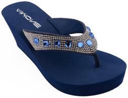 AIMONE Sandals Wedge Shoes Platform Heels Thong Flip Flops 3