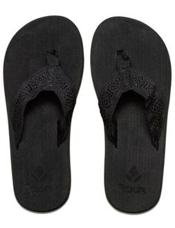 Reef Sandy Flip Flops Sandals Women Size 6 Black NWT