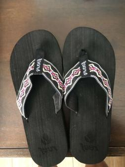 Reef Sandy Flip Flops Sandals Women Size 8 Black NWOT.. See