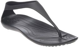 crocs Women's Sexi Flip,Black/Black,8 US