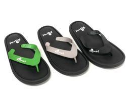 Sanuk Sidewalker Flip Flops 1095551 Sandals Thongs Waterproo