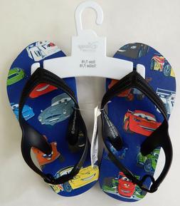 Disney Size 7/8 Blue Cars Flip Flop Sandals Boys Youth Shoes