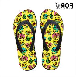 Skull Summer Style Women Flip Flops for Teenager Girl Ladies