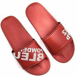 Powder Bleu Slides - RED flip flops Slides