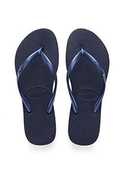 Havaianas Women's Slim Sandal Flip Flop, Navy Blue, 39/40 BR