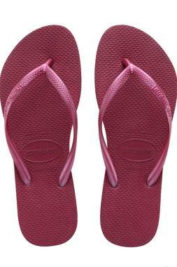 Havaianas SLIM Women's Flip Flops BEET BEETROOT Pick 35/36 3