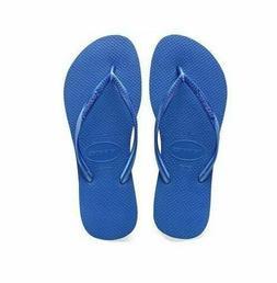 Havaianas SLIM Women's Flip Flops BLUE STAR Pick Size 35/36