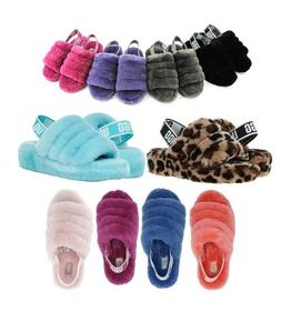soft fluff yeah slide slippers women s