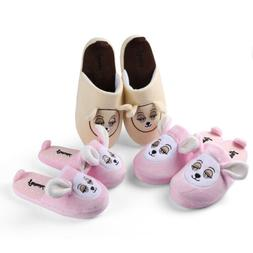 Aerusi Soft Teddy Bear Slippers Warm Home Flip Flops Family