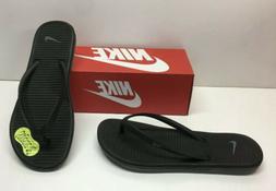 Nike Solarsoft Thong 2 Slides Flip Flops Black Sandals Slip