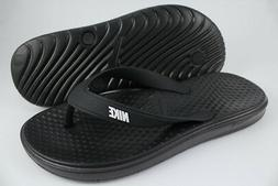 NIKE SOLAY THONG BLACK/WHITE FLIP FLOPS SANDALS SLIDES WATER