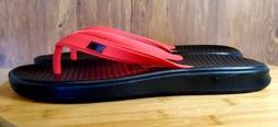 Nike Solay Thong Flip Flops Sandals Black/Red Men's Size 9