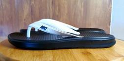 Nike Solay Thong Flip Flops Sandals Mens White Black 882690-