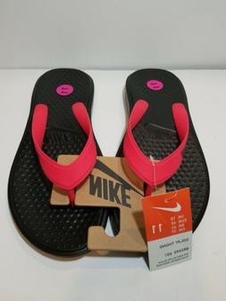 Nike Solay Thong Flip Flops Sandals Red/Black Men's Size 11