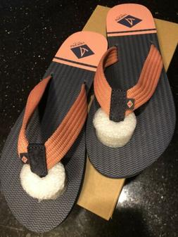 Sperry Calypso Flip Flops Size 9 Women's Navy Pink NIB