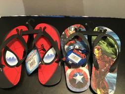 Ultimate SpiderMan or Avengers Flip Flops Thongs Sandals You