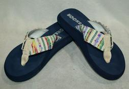 Rocket Dog Spotlight 2 Natural/Navy Women's Flip Flops - Siz