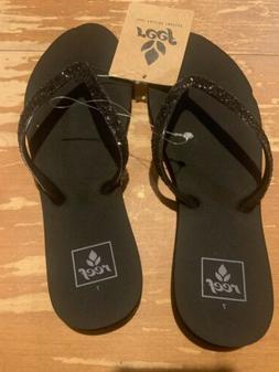 Reef Women's Stargazer Flip-Flop,Black/Black,7 M US