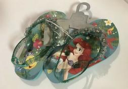 Disney Store Ariel Flip Flops for Girls  Size 7/8 NWT