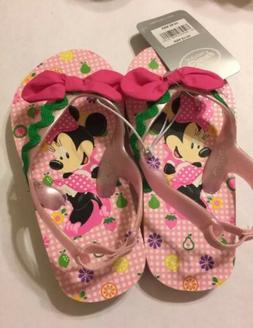 Disney Store Minnie Mouse Flip Flops for Girls, Size 7/8 Pin