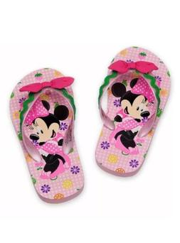 Disney Store Minnie Mouse Flip Flops for Girls, Size 11/12