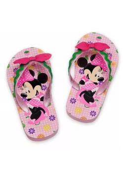 Disney Store Minnie Mouse Flip Flops for Girls, Size 9/10 Pi