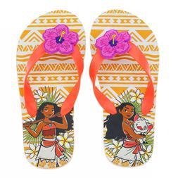 Disney Store Moana Flip Flops Size 7/8 9/10 13/1 or 2/3 For