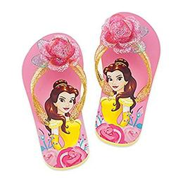 DISNEY STORE PRINCESS BELLE FLIP FLOPS ~ BEAUTY AND THE BEAS