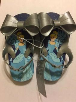 Disney Store Princess Cinderella Flip Flops for Girls, Size