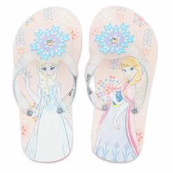 DISNEY STORE SIZE 9-10 or 11-12 ANNA AND ELSA FLIP FLOPS SAN