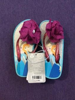 DISNEY STORE SIZE US 7/8 ANNA AND ELSA FLIP FLOPS SANDALS FO