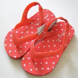 Old Navy Summer Flip-Flops Shoe for Baby Girl - Coral pink h
