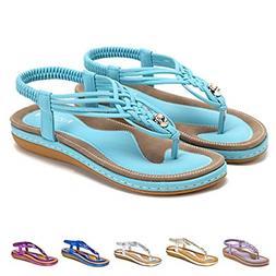 gracosy Summer Sandals for Women, Flat Sandals Flip Flops Th