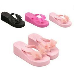 Summer Shoes Woman High Heel Cute Home Slippers Platform Fli